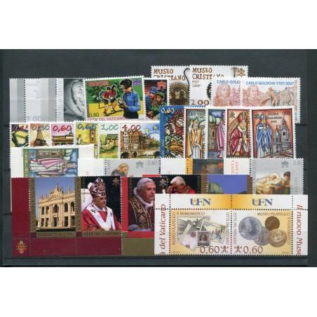 2007 Vaticano annata come in foto mnh