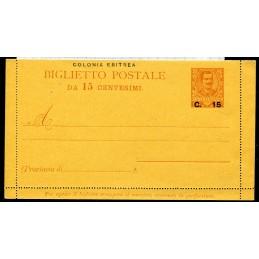 1905 Eritrea Biglietto...