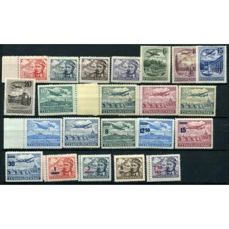 1946/51 Cecoslovacchia lotto di francobolli mh