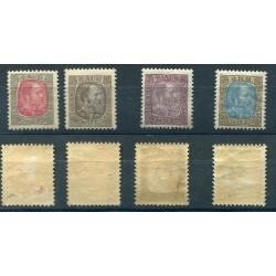 1908 ITALIA REGNO VITT. EMANUELE C.25 COPPIA NON DENTELLATA MNH CAT.180 ALB674