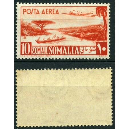 1951 SOMALIA AFIS  POSTA AEREA N.11 10S ARANCIO  MNH CAT. 180 LNT187
