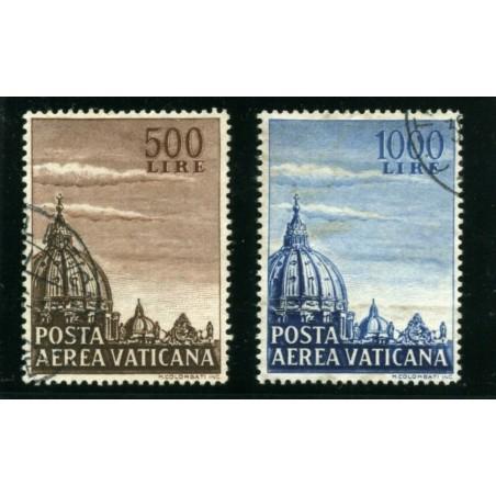 1953 VATICANO POSTA AEREA CUPOLA S. PIIETRO  USATI  LNT472