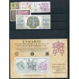 1982 Vaticano annata  cpl mnh