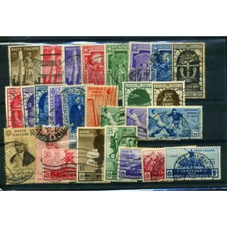 1933/34 ITALIA REGNO PICCOLO LOTTO USATO CON P. AEREA COME IN FOTO    LNT751