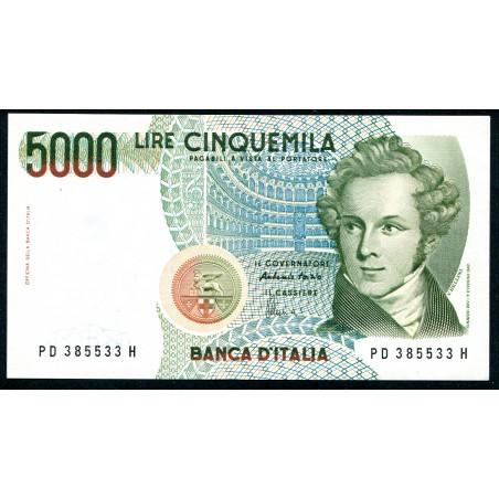 Lire 5.000 Bellini, D 1996. Gig. BI69D. FDS - Foto di esempio.