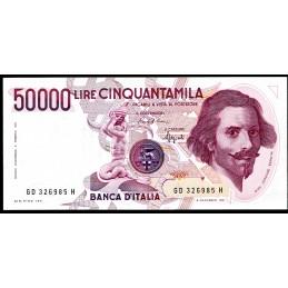 Lire 50.000 Bernini, 1°...