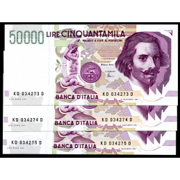 Lire 50.000 Bernini 2°...