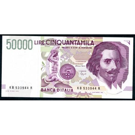 Lire 50.000 Bernini, 2° tipo, B1992. Gig. BI81B - FDS foto di esempio