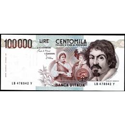 Lire 100.000 Caravaggio, 1°...