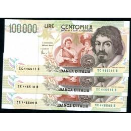 Lire 100.000 Caravaggio, 2°...