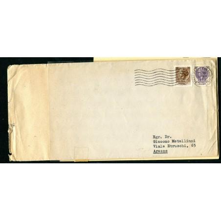 1968 Italia frode postale con Siracusana £.150+£.20 N.F 1083A+1072