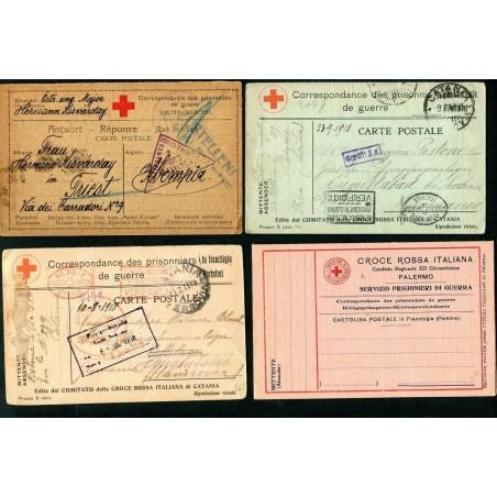 1918/61 CROCE ROSSA  LOTTO DI N.6 CARTOLINE  L750