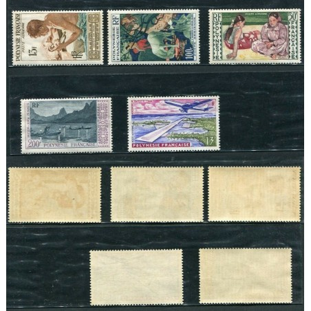 1958/60 POLYNESIA FRANCESE AIR MAIL MNH CAT.89,00  ONT081