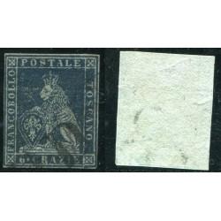 1851/52 TOSCANA 6CR AZZURRO...