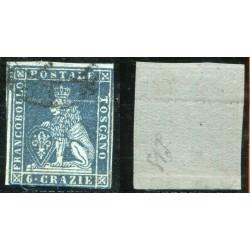 1851/52 TOSCANA 6CR INDACO...