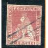 1851/52 TOSCANA 1CR. CARMINIO SU AZZURRO N.1B CAT. 500 ONT264