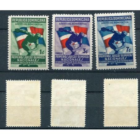 1937 REPUBLICA DOMINICANA N.300/02 MNH  ONT398