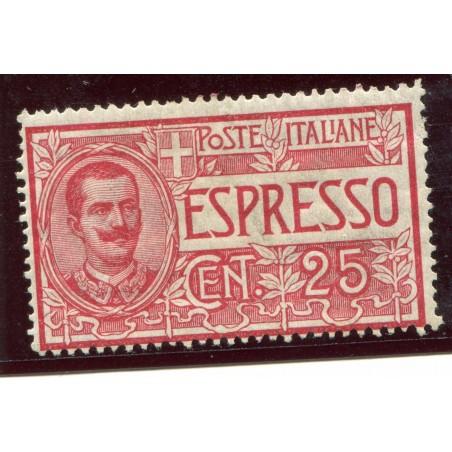 1903 ITALIA REGNO ESPRESSO C.25 ROSSO  N.1 MH    ENT768