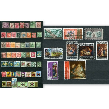 NEW ZEALAND SMALL LOT FO STAMPS USED HNT723