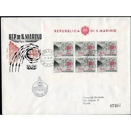 1962 San Marino FDC Europa