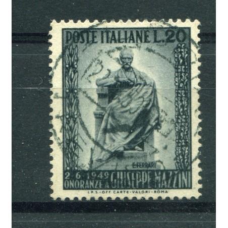 1949 ITALIA REPUBBLICA MONUMENTO GIUSEPPE MAZINI USATO  ENT369