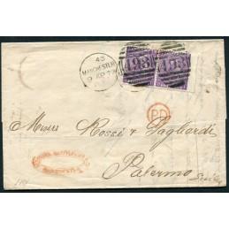 1872 Gran Bretagna lettera...