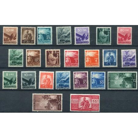 1945/48 Italia Democratica n.543/65 mnh cat. 1350