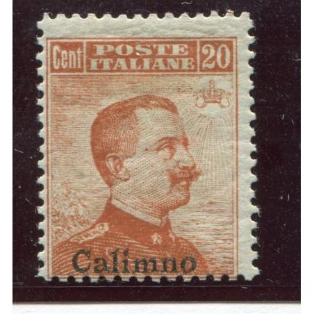 1917  - CALIMNO  VITT. EMANUELE 2° C.20 ARANCIO N.9 MH CAT. 150