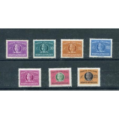 1955/90 ITALIA REPUBBLICA RECAPITO AUTORIZZATO N.12/18 MNH EUSA374