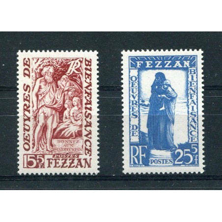 1950 FEZZAN BENEFICENZA N.27/28 CAT.45  MNH EUSA389