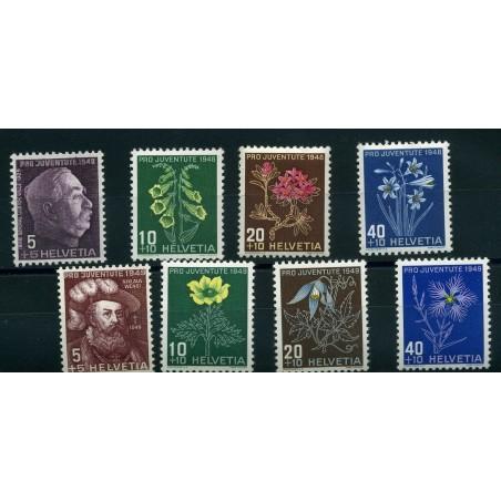 19548/49 SVIZZERA PRO JUVENTUTE N.567/71  MNH INT330