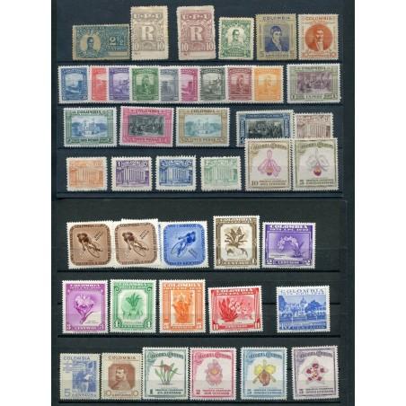1899/1950 COLOMBIA LOTTO DI FRANCOBOLLI MH  E045