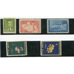 1951/58 CUBA MNH-  MH  E015