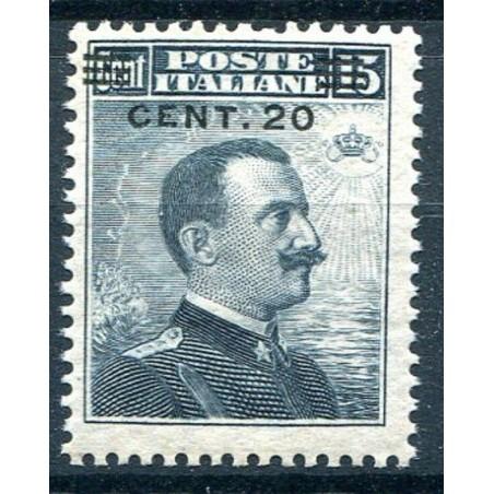 1916 ITALIA REGNO  VITT. EMANUELE C.15 GRIGIO NERO MNH N.106 CAT.55 E128