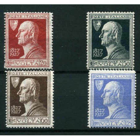 1927 ITALIA CENTENARIO ALESSANDRO VOLTA N. 210/13 MNH CAT. € 75 E174