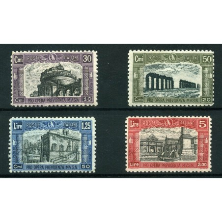 1928 ITALIA REGNO MILIZIA 2° MNH N.220/23  CAT. € 350 E176