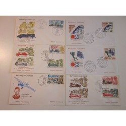 GABON  LOT OF N.23   FDC  E342
