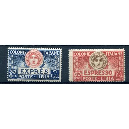 1921 LIBIA ESPRESSI TURRITA MNH N.3/4 FTO D'ESEMPIO  MNH E532