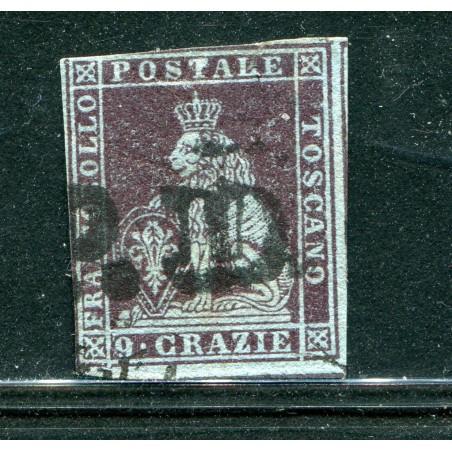1851 TOSCANA CR.9 BRUNO VIOLACEO SU AZZURRO N.8/A USATO    E621