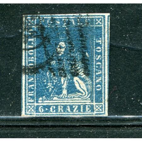 1851 TOSCANA CR.6 ARDESIA SU GRIGIO  N.7 USATO    E627