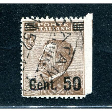 1923 ITALIA REGNO MICHETTI SOPRASTAMPATO  C.50 SU C.40 BRUNO USATO     E691