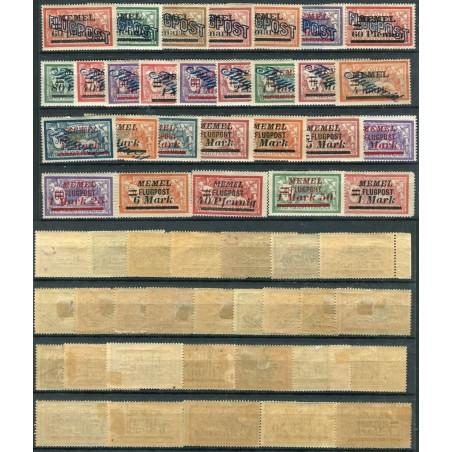 1921/22 FRANCIA OCCUPAZIONE TEDESCA POSTA AEREA CAT.255 MH  D047