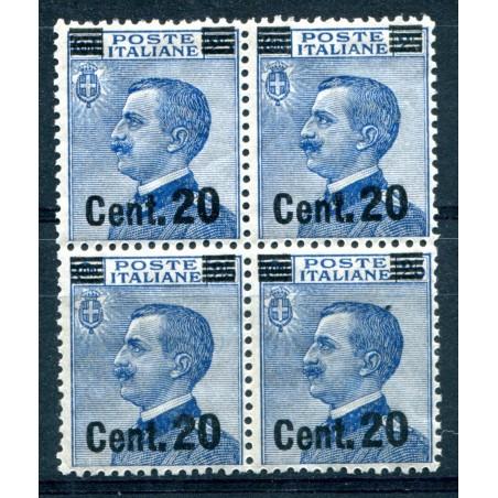 1924/25 ITALIA REGNO VITT.EMANUELE 3° C.20 SOPRASTAMPATO I° TIPO MNH H290