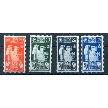 1934 Italia Regno Colonia Emissioni Generali n.42/45    mh I839