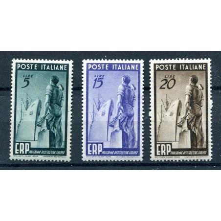 1949 ITALIA REPUBBLICA ERP N.601/3  MNH FOTO D'ESEMPIO LOTTO MULTIPLO I975