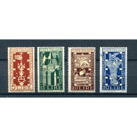 1949 ITALIA REPUBBLICA BIENNALE DI VENEZIA N.594/7  MNH I986