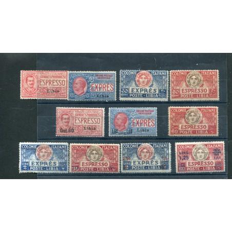 1915/36 Regno Libia Espressi n.1/10 -12 mh mnh cat.490