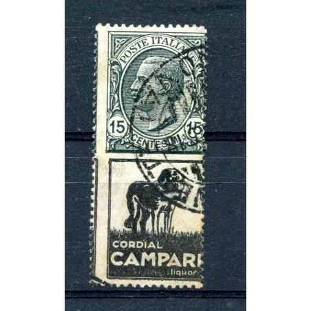 1924/25  ITALIA REGNO PUBBLICITARI CAMPARI C.15  N.3/B USAT0  L055