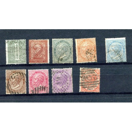 1863 ITALIA REGNO VITT. EMANUELE II° N.14/22  USATO   L052