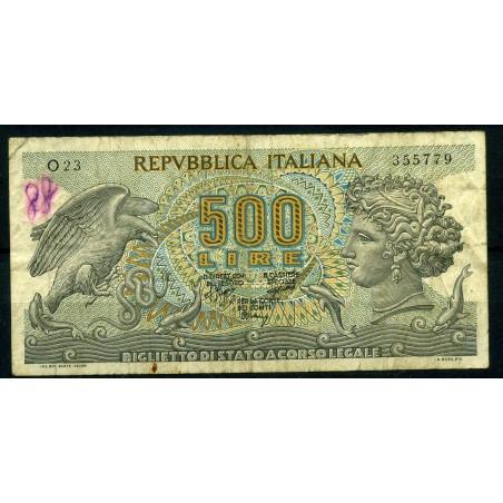 ITALIA £500 ARETUSA VIAGGIO - GUBBIO MARESCA, N° B525C - L460